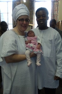 Me, Sian and our baby Alaw Grace