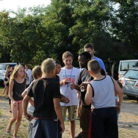 Ministering at the Roma Gypsy Outreach in Hungary