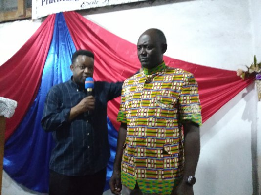 Prophesying over Pastor Guy
